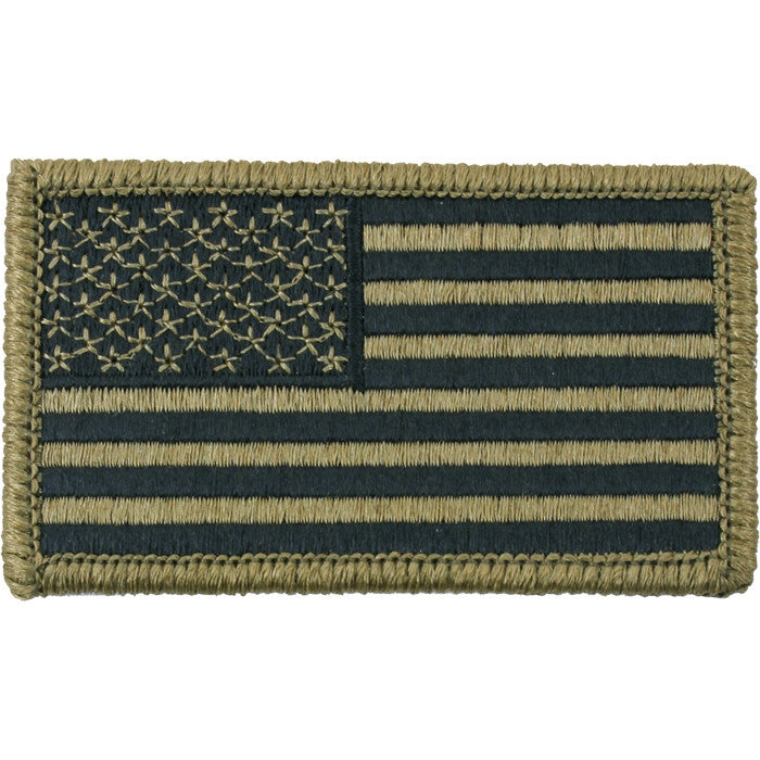 OCP Camouflage - US Flag Patch with Hook and Loop Closure