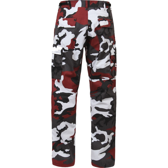 Red Camouflage - Military BDU Pants - Polyester Cotton