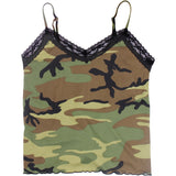 Woodland Camouflage - Womens Lace Trimmed Camisole