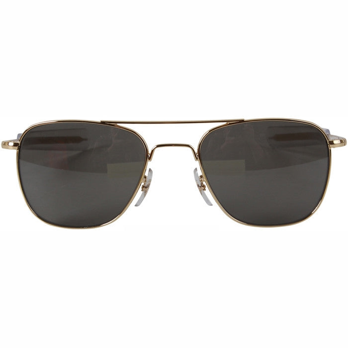 f5a21bf07f ... American Optics Gold - Genuine GI 52mm Polarized Air Force Pilots  Sunglasses with Case - USA