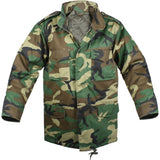 Woodland Camouflage - Kids Military M-65 Field Jacket