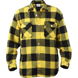 Yellow   Black - Buffalo Plaid Extra Heavyweight Brawny Flannel Shirt