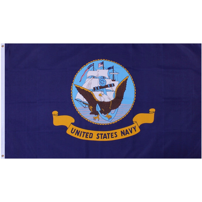 Navy Blue - UNITED STATES NAVY Flag with USN Emblem 3' x 5'