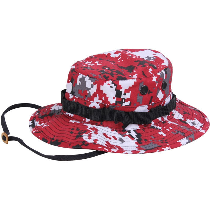 Digital Red Camouflage - Military Boonie Hat