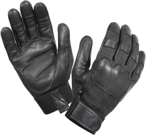 Black - Military Style Cut & Flame Resistant Tactical Gloves