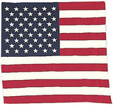 Red White Blue - US American Flag Bandana 22 in. x 22 in.