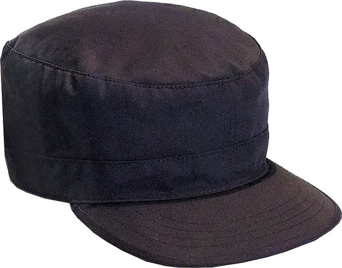 Black - Adjustable Fatigue Cap - Polyester Cotton