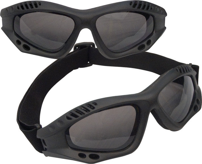 Black - VanTec Anti-Scratch Tactical Goggles