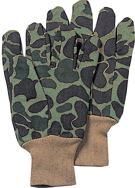 Camouflage - Sportsmens Jersey Work Gloves