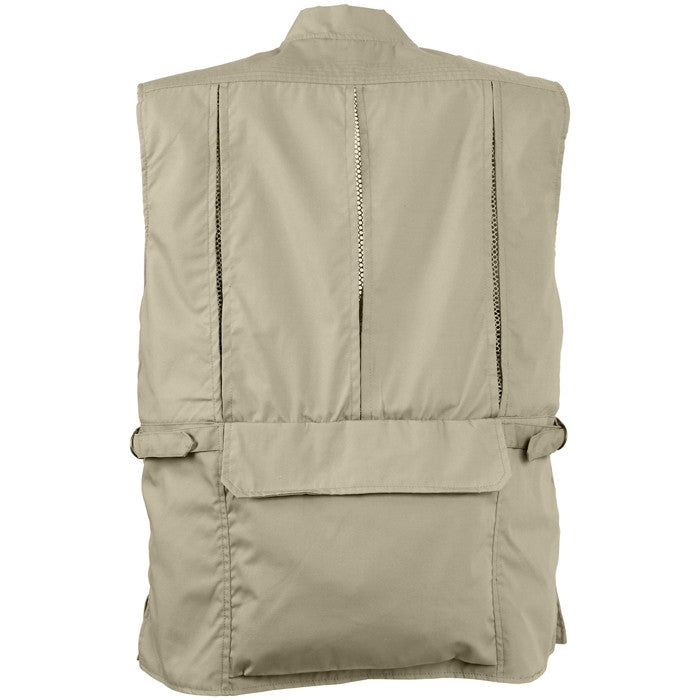 Concealed Safari Outback Carry Vest Khaki