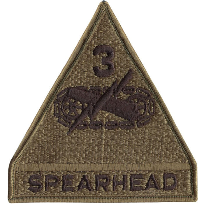Subdued - US Army SPEARHEAD 3rd Armored Division Sew On Patch with Emblem