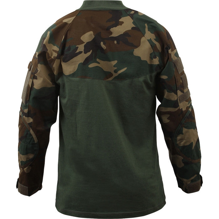 Woodland Camouflage - Military Tactical Lightweight Flame Resistant Combat Shirt
