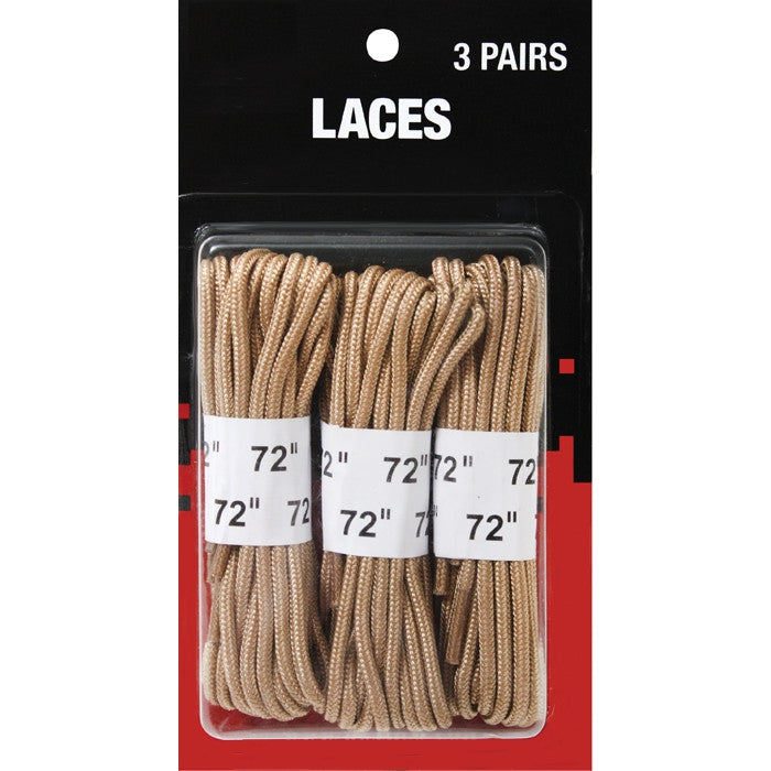 Desert Tan - Boot Laces 3 Pack - Nylon 72 in.