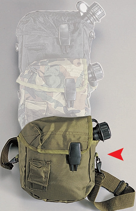 2 Quart Bladder Canteen Cover Military MOLLE Enhanced Nylon with Strap