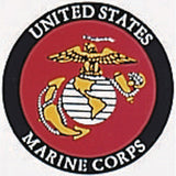 US Marine Corps Decal with USMC Emblem - Back-Gum