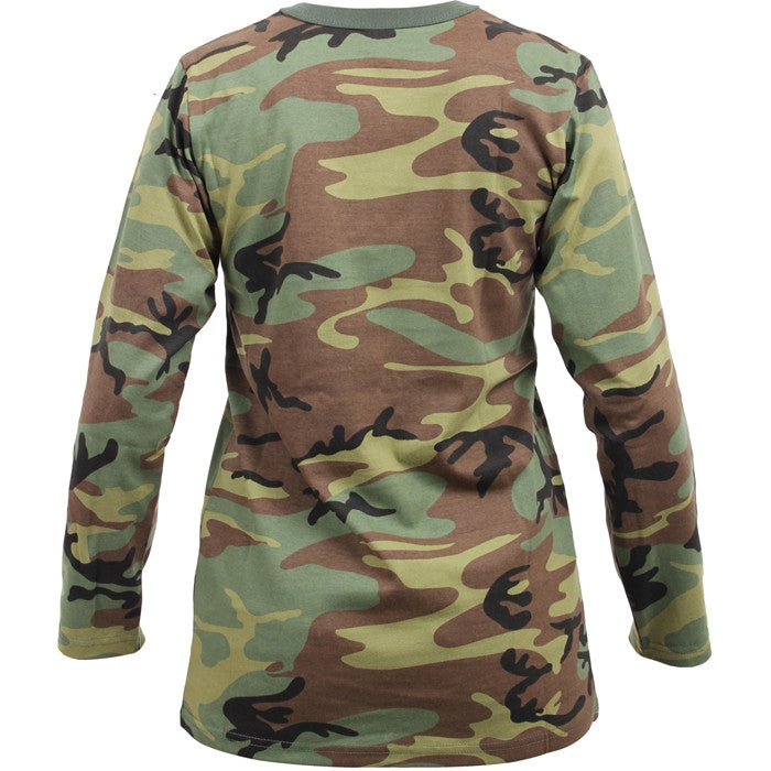 e8d91f60031f Woodland Camouflage - Womens Long Sleeve T-Shirt - Army Navy Store