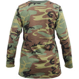Woodland Camouflage - Womens Long Sleeve T-Shirt
