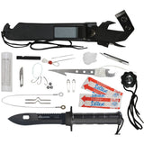 Black - Tactical Multi-Purpose Aventurer Surival Knife Kit