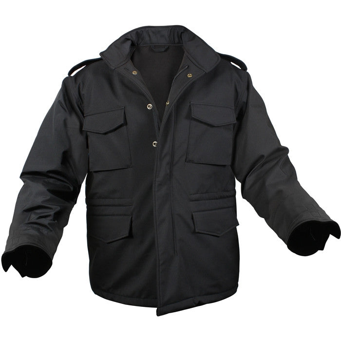 Black - Tactical Soft Shell M-65 Field Jacket