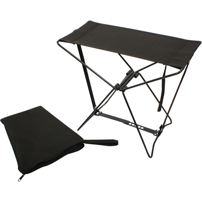 Black - Military Style Outdoor Folding Camp Stool
