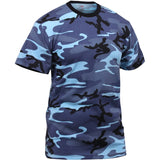 Sky Blue Camouflage - Kids Military T-Shirt