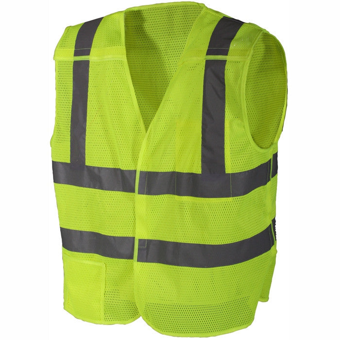 Safety Green - Reflective 5 Point Breakaway Vest