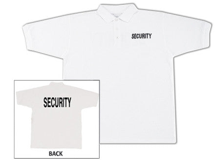 White - Two Sided Law Enforcement SECURITY Golf Shirt