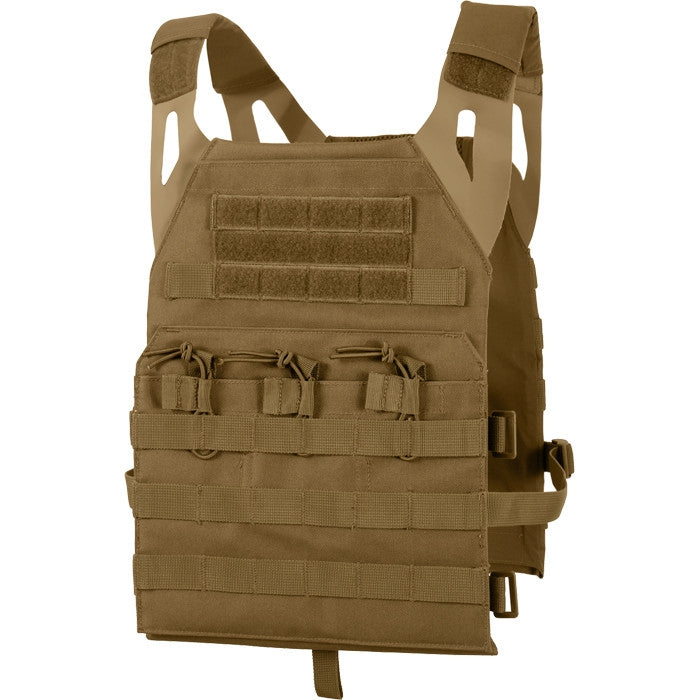 Coyote Brown - Lightweight Military MOLLE Tactical Plate Carrier Vest