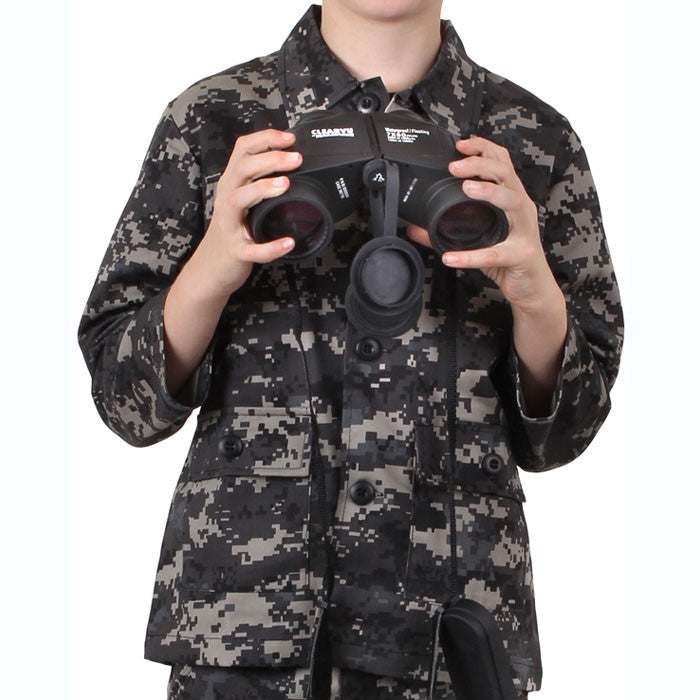 Subdued Urban Digital Camouflage - Kids Military BDU Shirt