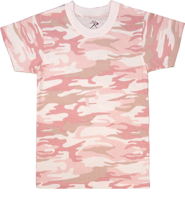 Baby Pink Camouflage - Kids Military T-Shirt