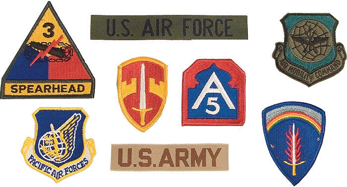 Assorted Military Patches 100 Pack