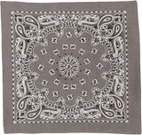 Grey - Trainmen Bandana 22 in. x 22 in.