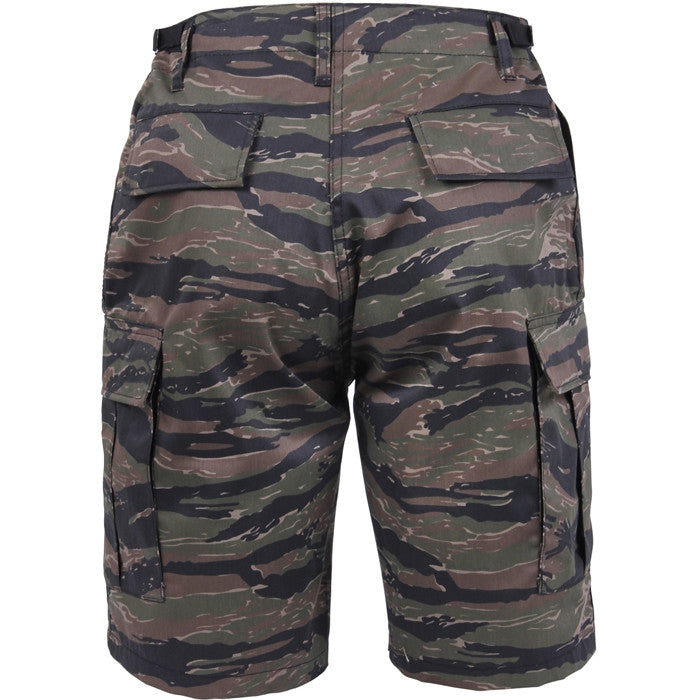 Tiger Stripe Camouflage - Military Cargo BDU Shorts - Polyester Cotton Twill