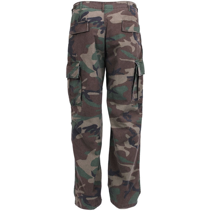 Woodland Camouflage - Military Vintage Vietnam Fatigue Pants
