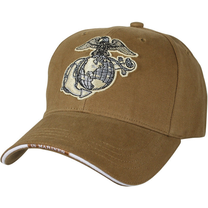 Coyote Brown - Globe & Anchor Military Low Profile Adjustable Baseball Cap