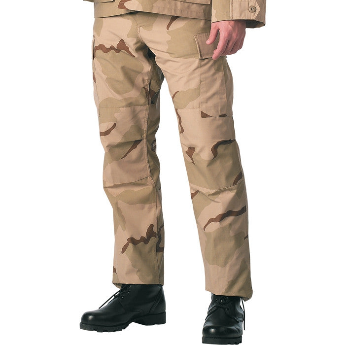 Tri-Color Desert Camouflage - Military SWAT Cloth BDU Pants - Polyester Cotton Ripstop