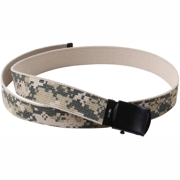 ACU Digital Camouflage - Military Web Belt with Black Buckle
