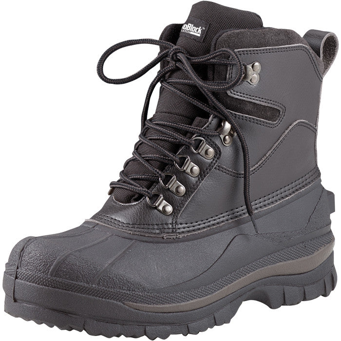 Black - Waterproof Cold Weather Hiking Boots