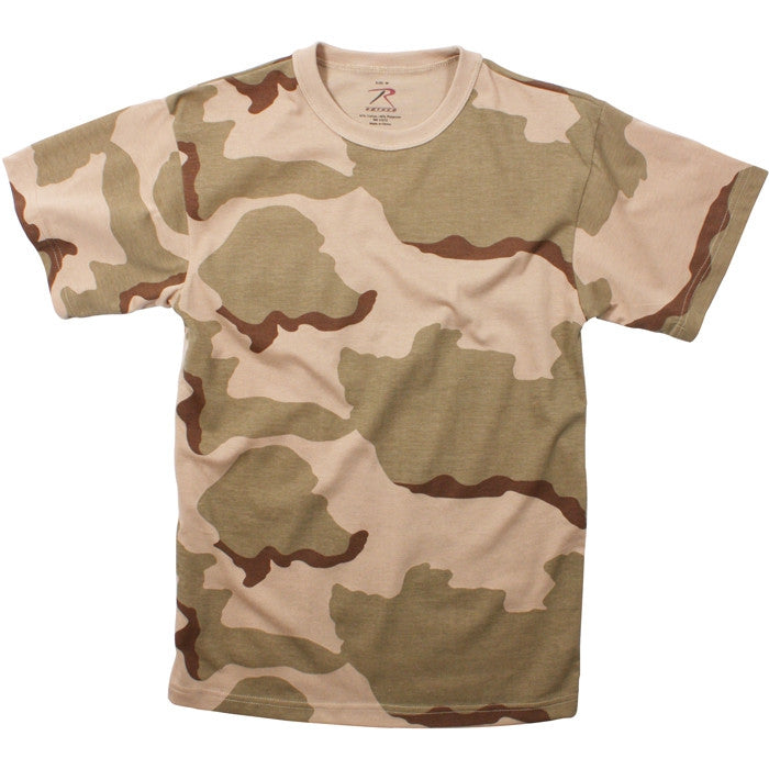 Tri-Color Desert Camouflage - Kids Military T-Shirt