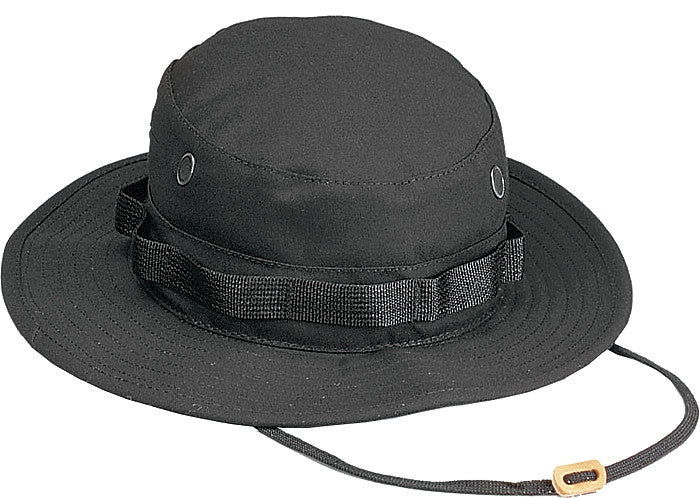 Black - Military Boonie Hat - Polyester Cotton