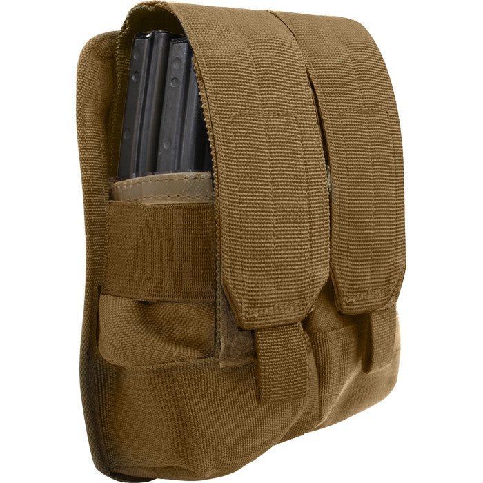 Coyote Brown - Tactical MOLLE Dual Universal Rifle Mag Pouch