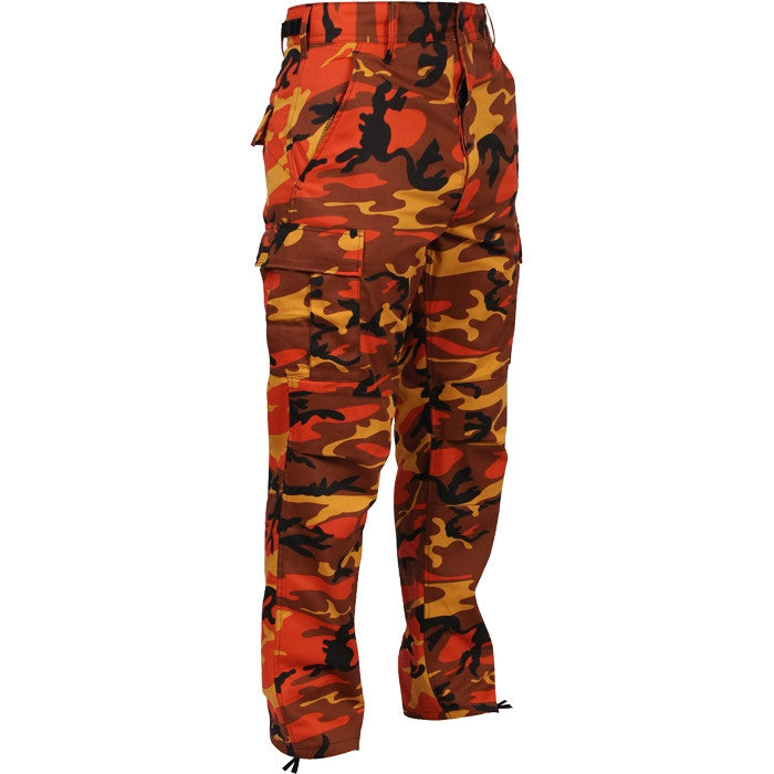 Savage Orange Camouflage - Military BDU Pants - Polyester Cotton Twill