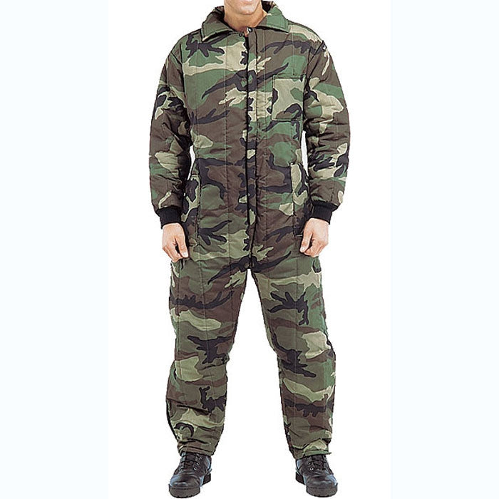 Woodland Camouflage - Outdoor Cold Weather Insulated Coveralls