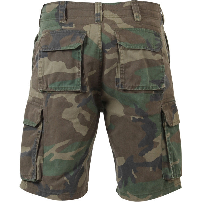 Woodland Camouflage - Military Vintage Paratrooper Cargo Shorts
