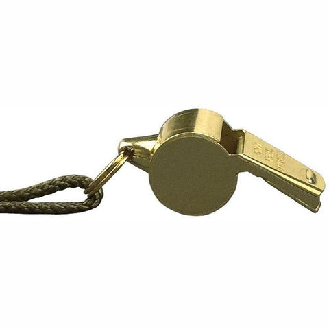 Brass - GI Style Tactical Police Whistle