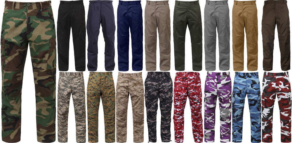 Military Uniform Pants, Camouflage BDU Pants Army Cargo Fatigues