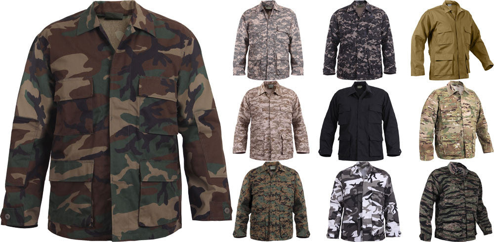 Military Uniform Shirts, Camouflage BDU Shirts