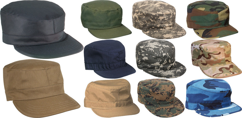 Military Fatigue Caps, Uniform Patrol Hats, Camo Fitted Hats