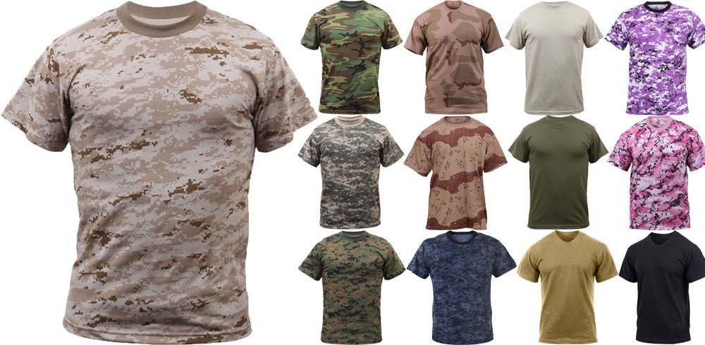 Military T-Shirts, Short Sleeve Camo Tees