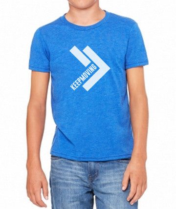 Youth Keep Moving True Royal Tri-Blend Tee
